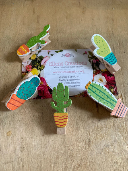 Cactus Magnet Clips