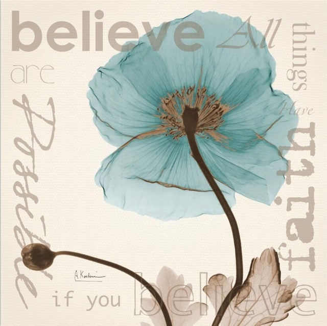 Believe  All Things Are Possible With Faith - Canvas Wall Art