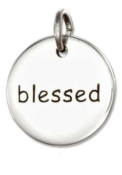 Blessed- Sterling Silver Charm
