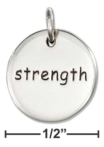 Strength -  Sterling Silver Charm