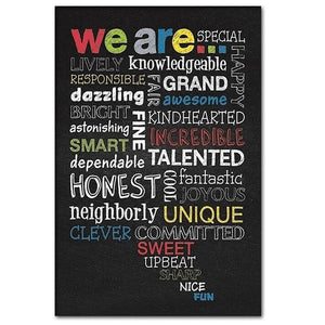 We Are Special and Talented - Motivational Wall Art