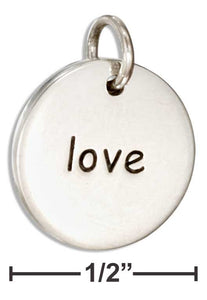 Love - Sterling Silver Charm