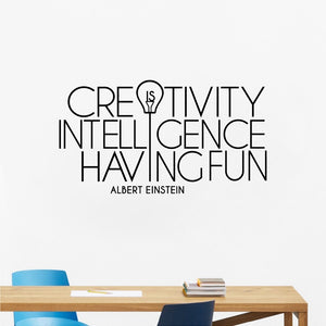 Creativity is Intelligence Having Fun - Vinyl Wall Decal