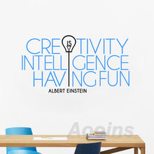 Load image into Gallery viewer, Creativity is Intelligence Having Fun - Vinyl Wall Decal