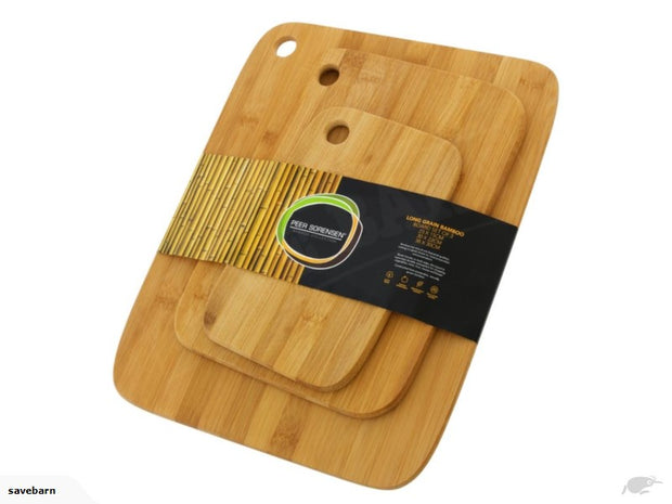 Bamboo boards set x 3