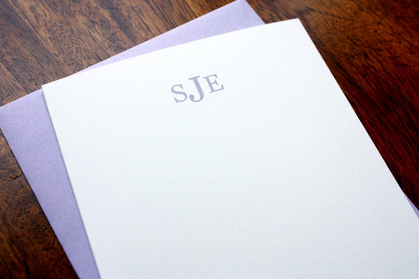 Monogram Note Cards