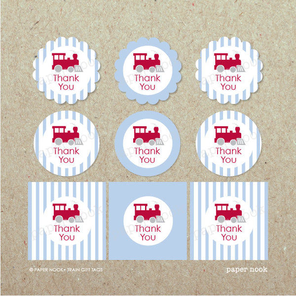 PRINTABLE Train Gift Tags