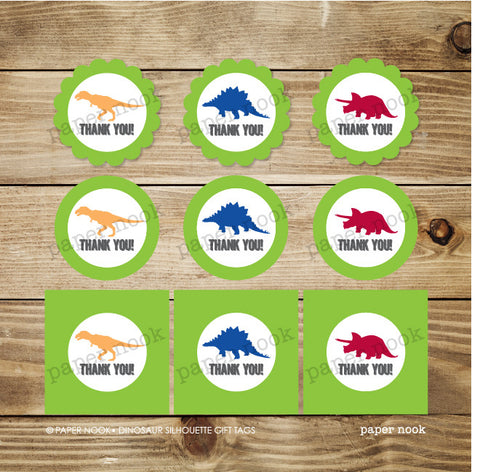 PRINTABLE Dinosaur Gift Tags