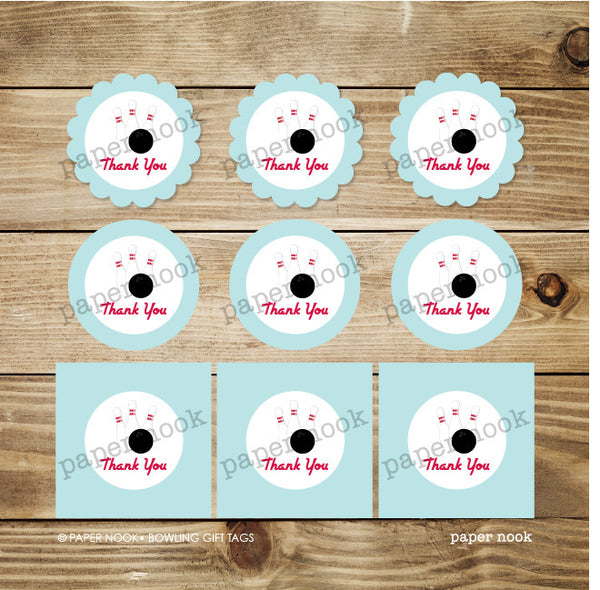 PRINTABLE Bowling Gift Tags