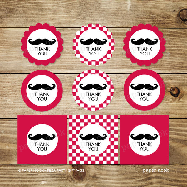 PRINTABLE Pizza Party Gift Tags