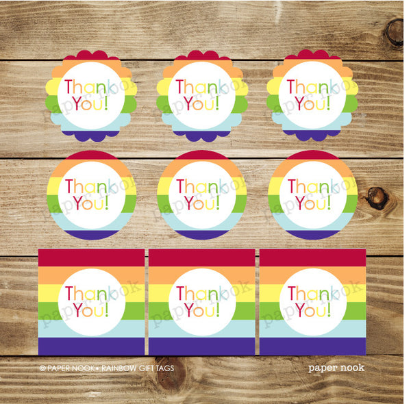 PRINTABLE Rainbow Gift Tags