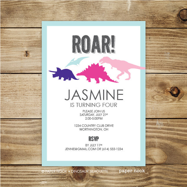 PRINTABLE Dinosaur Invitation