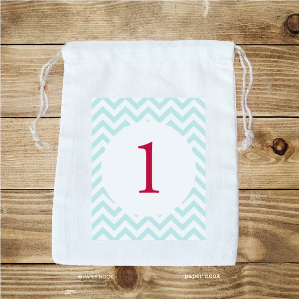 Advent Calendar Cotton Bags