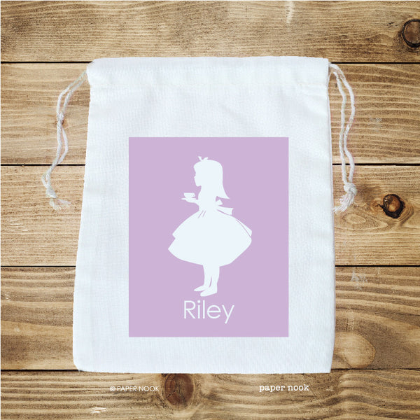 Alice in Wonderland Inspired Favor Bag