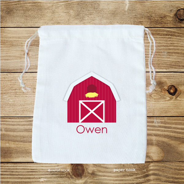 Barn Favor Bag
