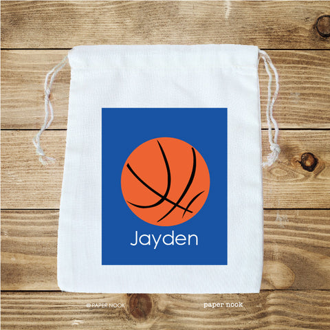 Basketball Favor Bag
