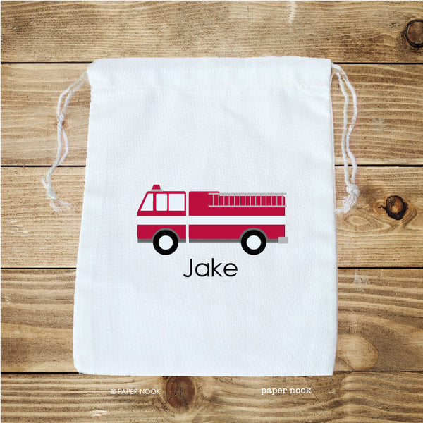 Fire Truck Favor Bag