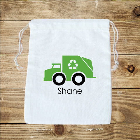 Garbage Truck Favor Bag
