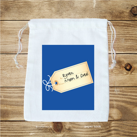 Gift Tag Favor Bag