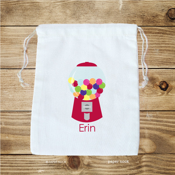 Gumball Machine Favor Bag