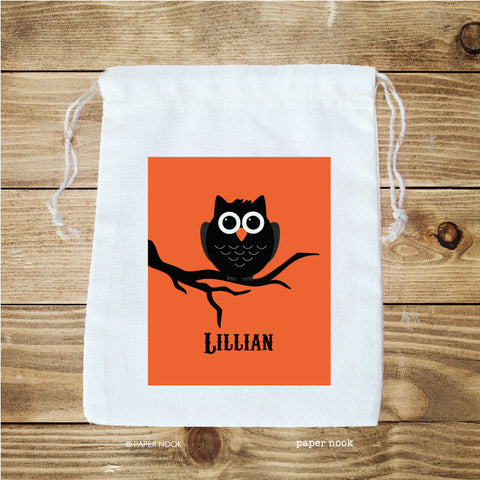 Halloween Owl Favor Bag