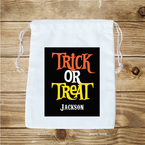 Halloween Trick or Treat Favor Bag