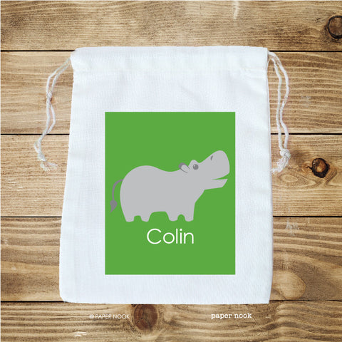 Hippo Favor Bag