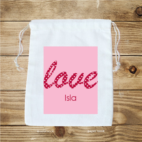 Valentine Love Favor Bag