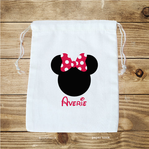 Minnie Inspired Favor Bag