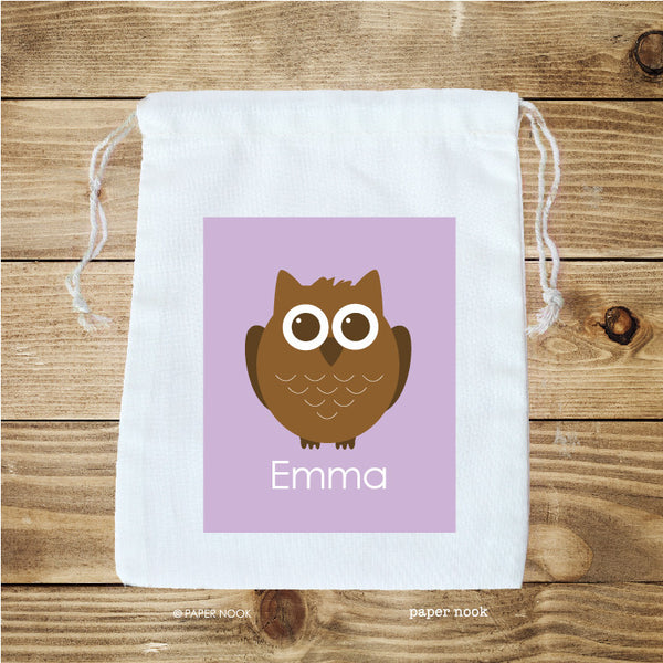 Owl Favor Bag