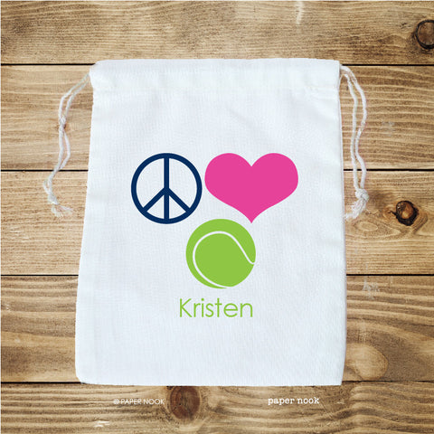 Tennis Favor Bag