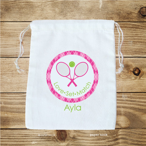Preppy Tennis Favor Bag