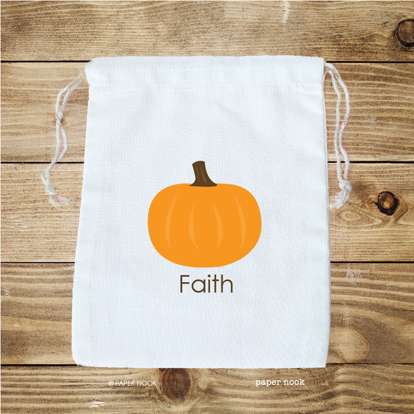 Pumpkin Favor Bag