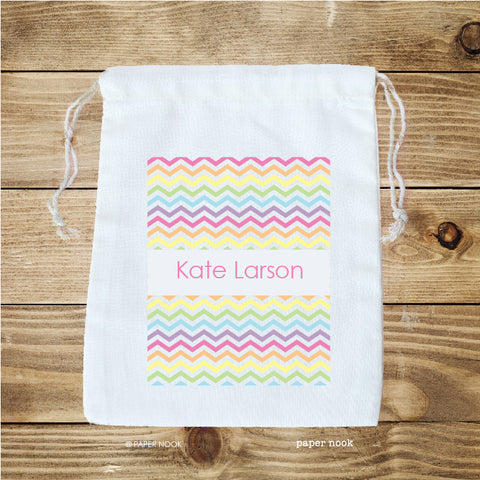 Chevron Rainbow Favor Bag