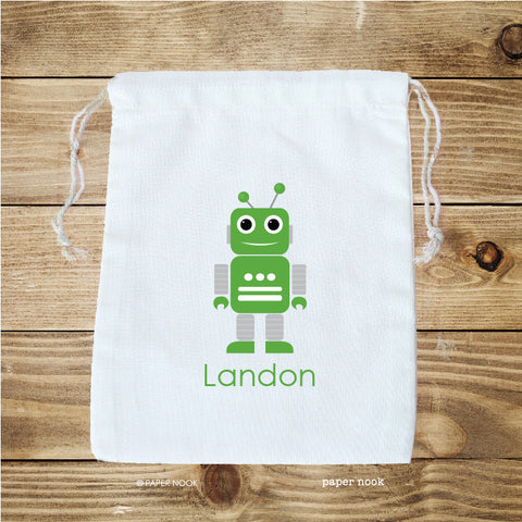Robot Favor Bag