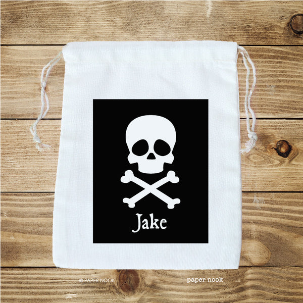 Skull and Crossbones Favor Bag