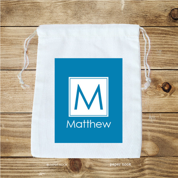 Square Initial Favor Bag