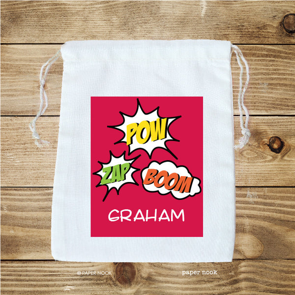 Superhero Comic Favor Bag