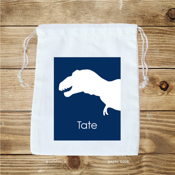 Dinosaur Silhouette Favor Bag