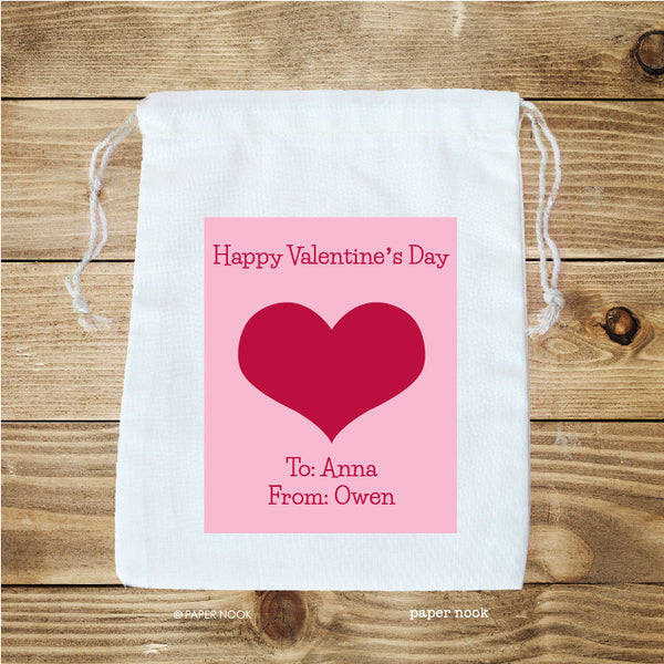 Valentine Heart Favor Bag