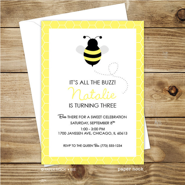 Bee Invitation