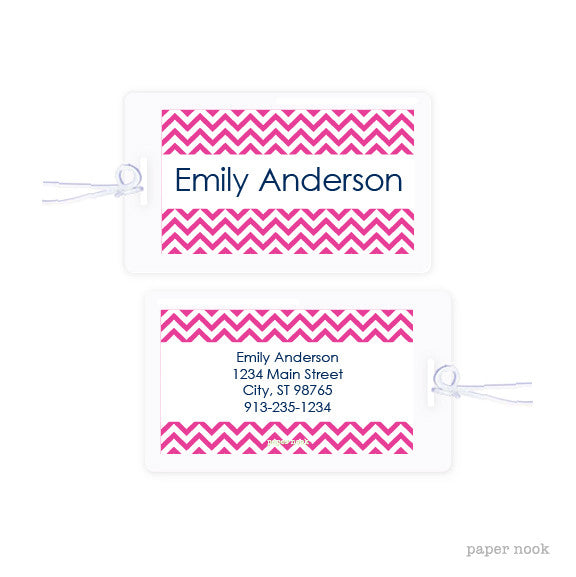 Chevron Bag Tag