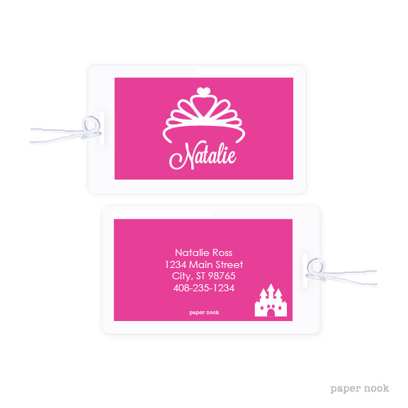 Princess Tiara Bag Tag