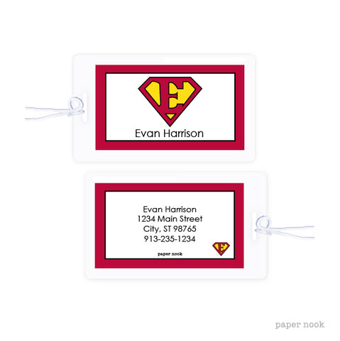 Superman Inspired Bag Tag