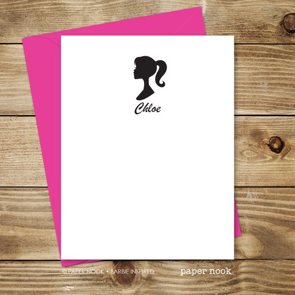 Barbie Inspired Note Cards