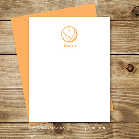Basketball Note Cards