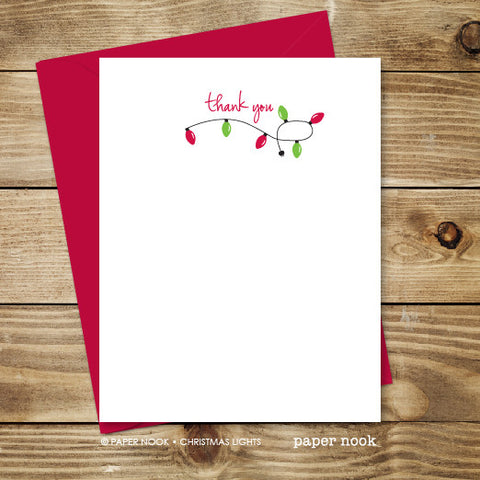 Christmas Lights Note Cards