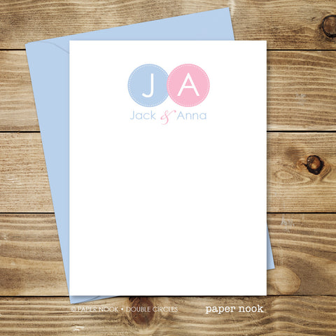 Double Circles Note Cards