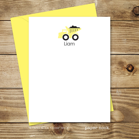 Dump Truck Note Cards