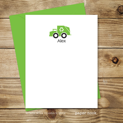 Garbage Truck Note Cards